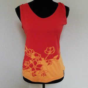 The North Face Red Tank with Orange Flower Applica